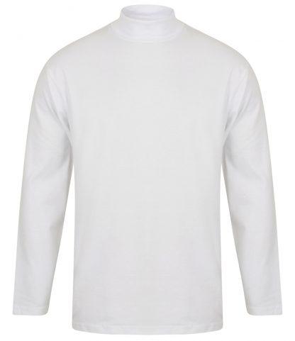 Henbury L/S Roll Neck Top White XXL (H020 WHI XXL)