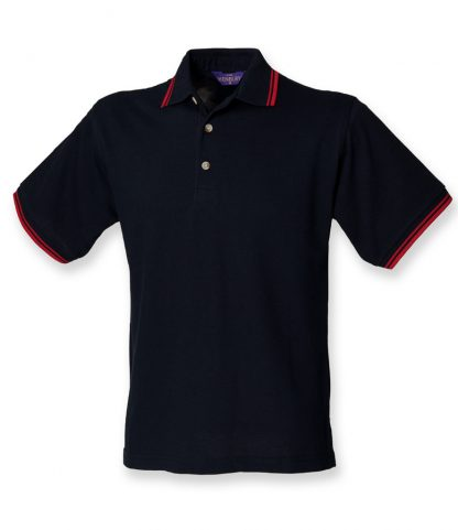 Henbury Double Tipped Polo Navy/red XXL (H150 NV/RD XXL)