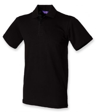 Henbury Stretch Pique Polo Shirt Black XXL (H305 BLK XXL)