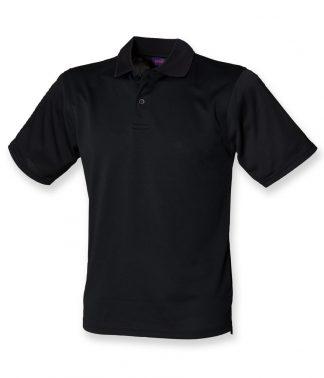 Henbury Coolplus Polo Black 5XL (H475 BLK 5XL)
