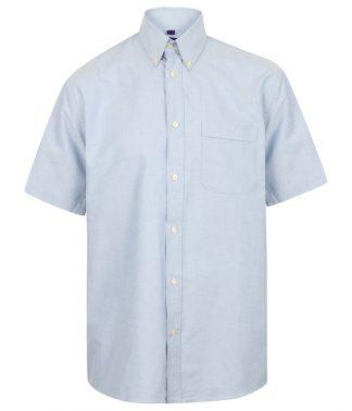 Henbury S/S Classic Oxford Shirt Blue 4XL (H515 BLU 4XL)