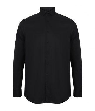Henbury L/S Stretch Shirt Black 4XL (H532 BLK 4XL)