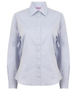 Henbury Lds L/S Oxford Shirt Light blue 3XL20 (H551 LBL 3XL20)