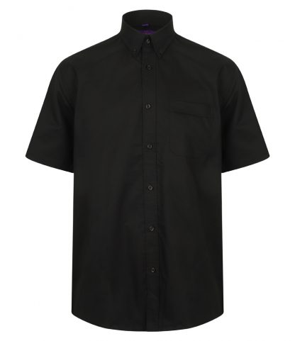 Henbury S/S Wicking Shirt Black 4XL (H595 BLK 4XL)
