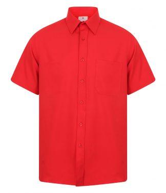 Henbury S/S Wicking Shirt Classic Red 4XL (H595 CSR 4XL)