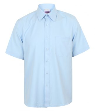 Henbury S/S Wicking Shirt Light blue 4XL (H595 LBL 4XL)