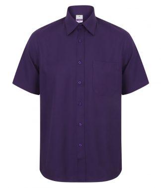 Henbury S/S Wicking Shirt Purple 4XL (H595 PUR 4XL)