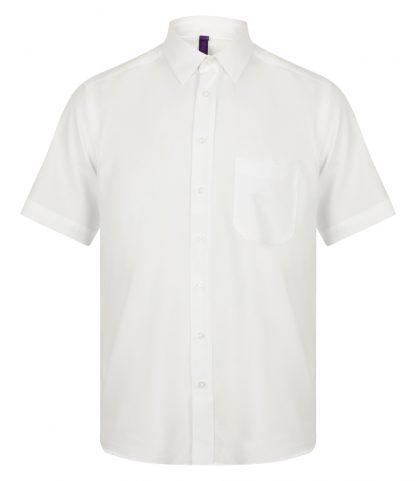 Henbury S/S Wicking Shirt White 4XL (H595 WHI 4XL)