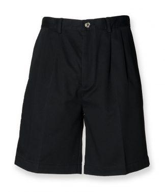 Henbury Chino Shorts Black 40 (H605 BLK 40)