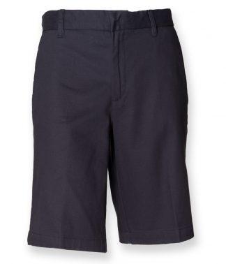 Henbury Lds Chino Shorts Navy XXL18 (H607 NAV XXL18)