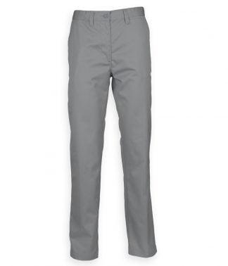 Henbury 65/35 Flat Fronted Chinos Steel grey 44/U (H640 STE 44/U)