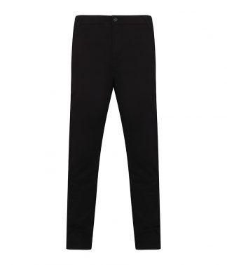 Henbury Stretch Chino Flex Waist. Black 44/U (H650 BLK 44/U)
