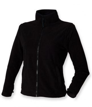 Henbury Lds Micro Fleece Black 18 (H851 BLK 18)