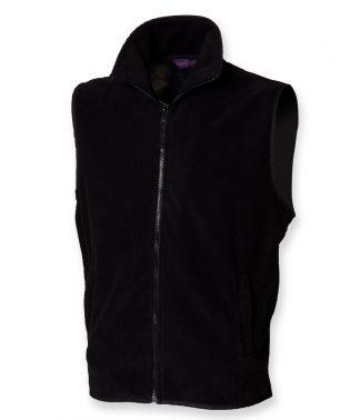 Henbury S/Less Micro Fleece Jkt Black XXL (H855 BLK XXL)