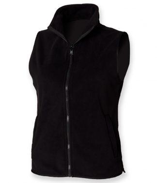 Henbury Lds S/Less Micro Fleece Black XXL (H856 BLK XXL)