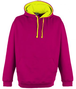 AWDis Super Bright Hoodie Hot pink/elec. yell. XXL (JH013 HP/EY XXL)