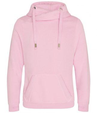 AWDis Cross Neck Hoodie Baby Pink XXL (JH021 BPI XXL)