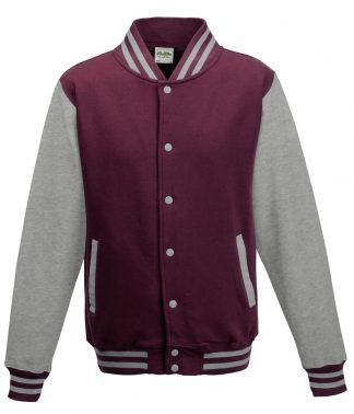 AWDis Varsity Jacket Burg./heather 3XL (JH043 BU/HE 3XL)