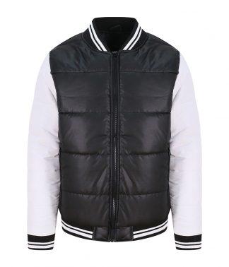 AWDis Varsity Puffer Jacket Jet blk/white XXL (JH049 JB/WH XXL)
