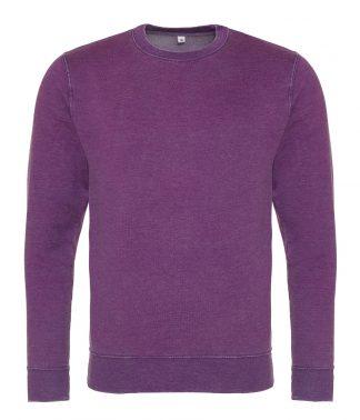 AWDis Washed Sweat Purple 3XL (JH093 PUR 3XL)
