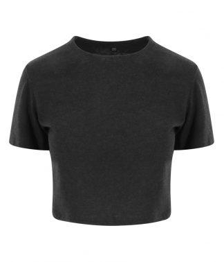 AWDis Womens Tri-Blend Cropped T Heather black XL (JT006 HBK XL)