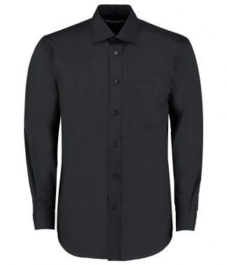 Kus. Kit C/F L/S Business Shirt Black 21 (K104 BLK 21)