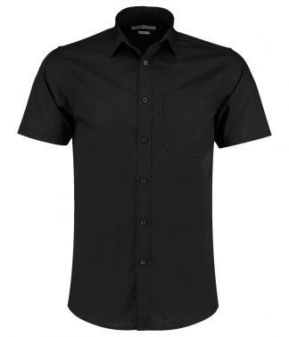 Kus. Kit T/F S/S Poplin Shirt Black 23 (K141 BLK 23)