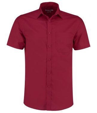 Kus. Kit T/F S/S Poplin Shirt Claret 23 (K141 CLA 23)