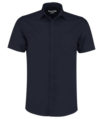 Kus. Kit T/F S/S Poplin Shirt Dark Navy 23 (K141 DKN 23)