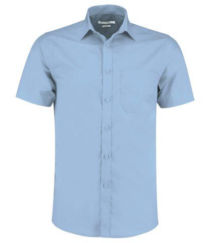 Kus. Kit T/F S/S Poplin Shirt Light blue 23 (K141 LBL 23)