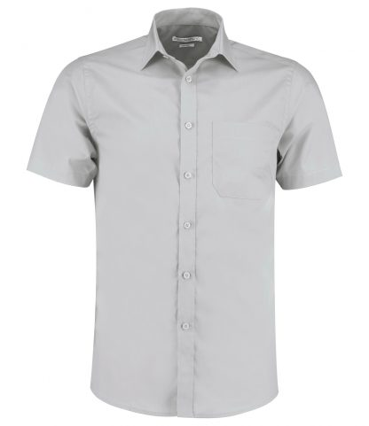 Kus. Kit T/F S/S Poplin Shirt Light Grey 23 (K141 LGR 23)