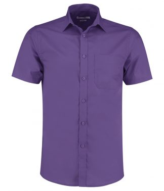 Kus. Kit T/F S/S Poplin Shirt Purple 23 (K141 PUR 23)