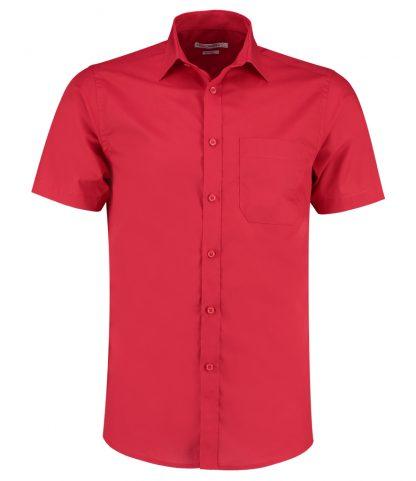 Kus. Kit T/F S/S Poplin Shirt Red 23 (K141 RED 23)