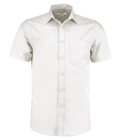 Kus. Kit T/F S/S Poplin Shirt White 23 (K141 WHI 23)