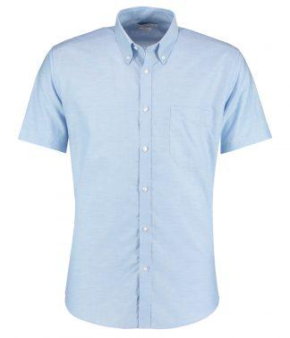 Kus. Kit S/F S/S Workwear Oxf. Shirt Light blue 18 (K183 LBL 18)