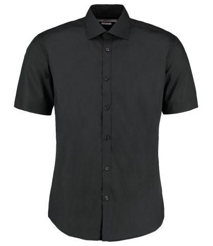 Kus. Kit S/F S/S Business Shirt Black 18 (K191 BLK 18)