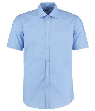 Kus. Kit S/F S/S Business Shirt Light blue 18 (K191 LBL 18)