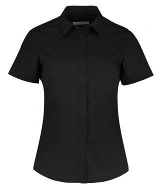 Kus. Kit Lds T/F S/S Poplin Shirt Black 28 (K241 BLK 28)
