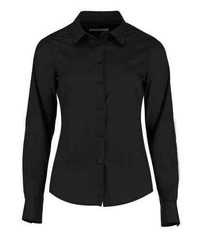 Kus. Kit Lds T/F L/S Poplin Shirt Black 28 (K242 BLK 28)