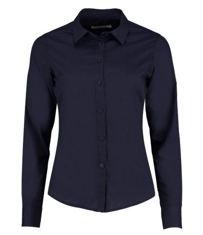 Kus. Kit Lds T/F L/S Poplin Shirt Dark Navy 28 (K242 DKN 28)