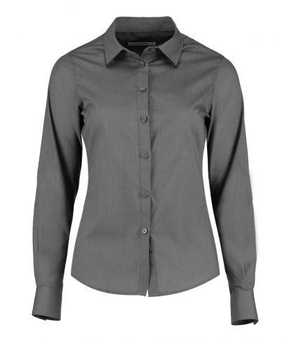 Kus. Kit Lds T/F L/S Poplin Shirt Graphite 28 (K242 GPH 28)