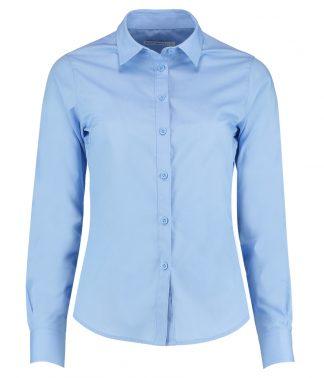 Kus. Kit Lds T/F L/S Poplin Shirt Light blue 28 (K242 LBL 28)