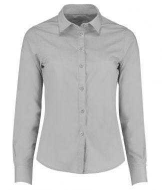 Kus. Kit Lds T/F L/S Poplin Shirt Light Grey 28 (K242 LGR 28)