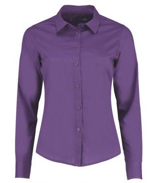 Kus. Kit Lds T/F L/S Poplin Shirt Purple 28 (K242 PUR 28)