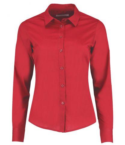 Kus. Kit Lds T/F L/S Poplin Shirt Red 28 (K242 RED 28)