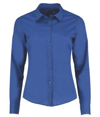 Kus. Kit Lds T/F L/S Poplin Shirt Royal 28 (K242 ROY 28)