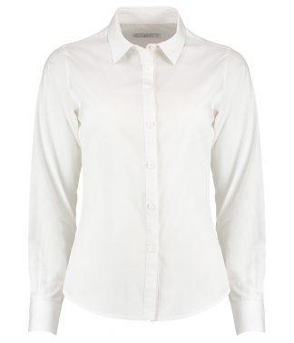 Kus. Kit Lds T/F L/S Poplin Shirt White 28 (K242 WHI 28)