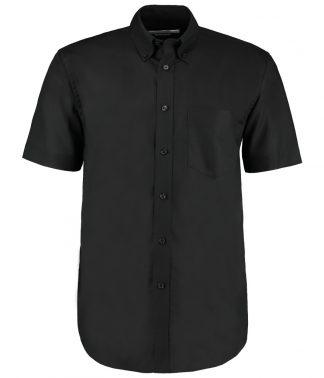 Kus. Kit C/F S/S Work. Oxf. Shirt Black 23 (K350 BLK 23)
