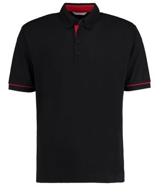 Kus. Kit BDC Contrast Polo Black/red XXL (K449 BK/RD XXL)