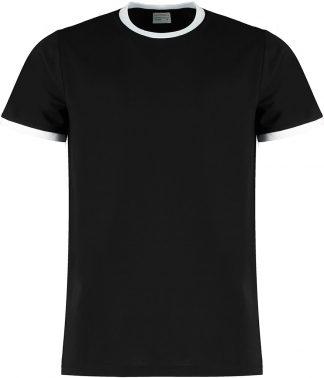 Kus. Kit Fashion Fit Ringer T Black/white XXL (K508 BK/WH XXL)